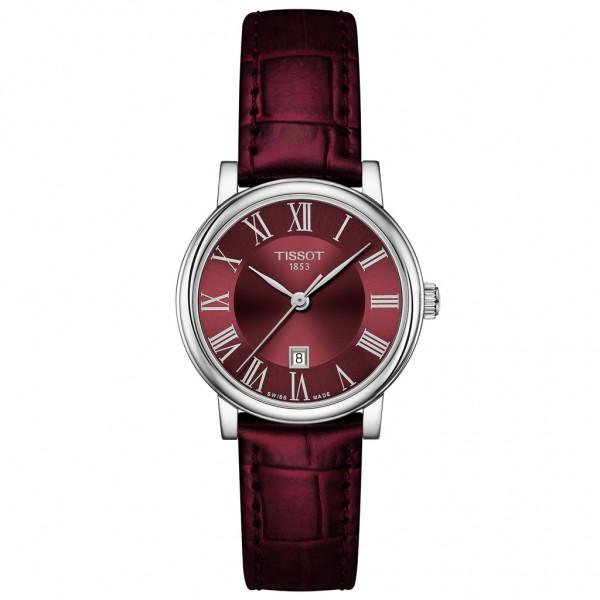 TISSOT T-Classic Carson Premium Bordeaux Leather Strap T1222101637300