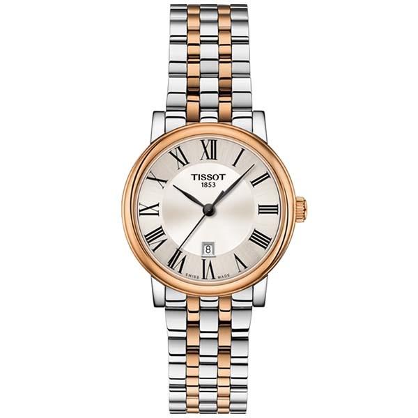 TISSOT T-Classic Carson Premium Lady Two Tone Stainless Steel Bracelet T1222102203301