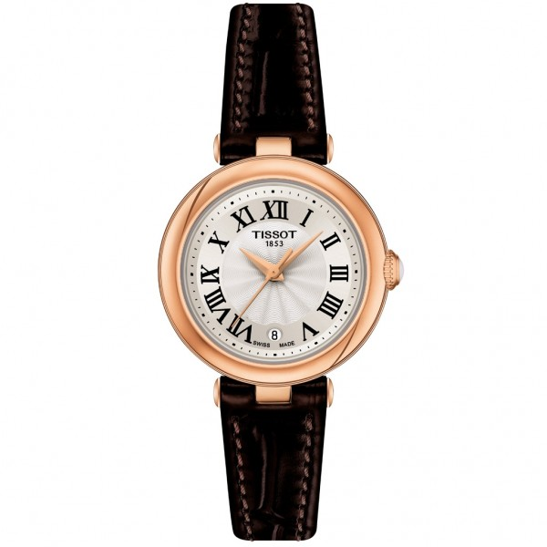 TISSOT T-Lady Bellissima Brown Leather Strap T1260103601300