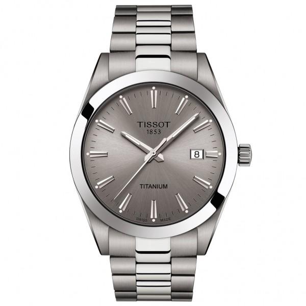 TISSOT T-Classic Gentleman Silver Titanium Bracelet T1274104408100