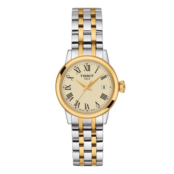 TISSOT T-Classic Dream Lady Two Tone Stainless Steel Bracelet T1292102226300