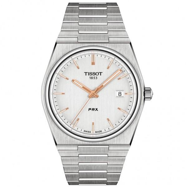 TISSOT T-Classic PRX 40 Silver Stainless Steel Bracelet T1374101103100