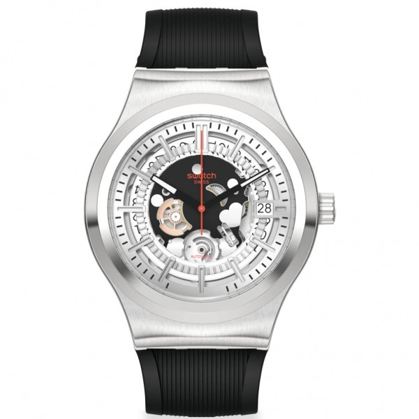 SWATCH Sistem Throught Again YIS431 Black Rubber Strap