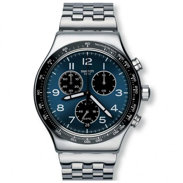 SWATCH Boxengasse YVS423G Chrono Silver Stainless Steel Bracelet