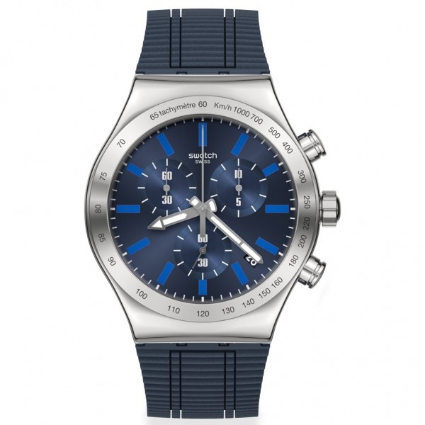 SWATCH Electric Blue YVS478 Blue Silicone Strap
